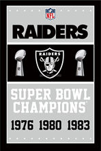 Oakland Raiders Super Bowl Champions Man Cave Sports Banner Basketball Flag 3' x 5' Custom Hockey Baseball Football Flag