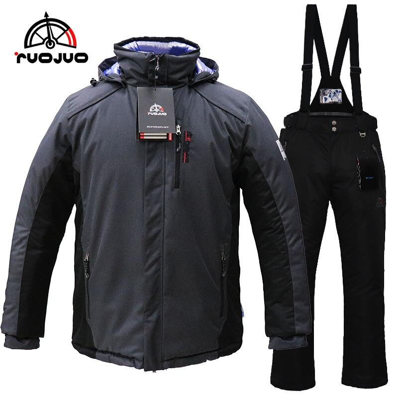male hot new ski suit black
