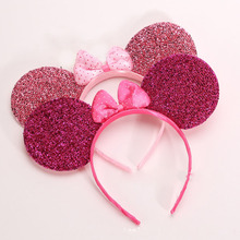 Minnie Mickey Headwear Ear Baby Hair Accessories Minnie Mouse Party Bow Girls Headband kid birthday party  Headwea