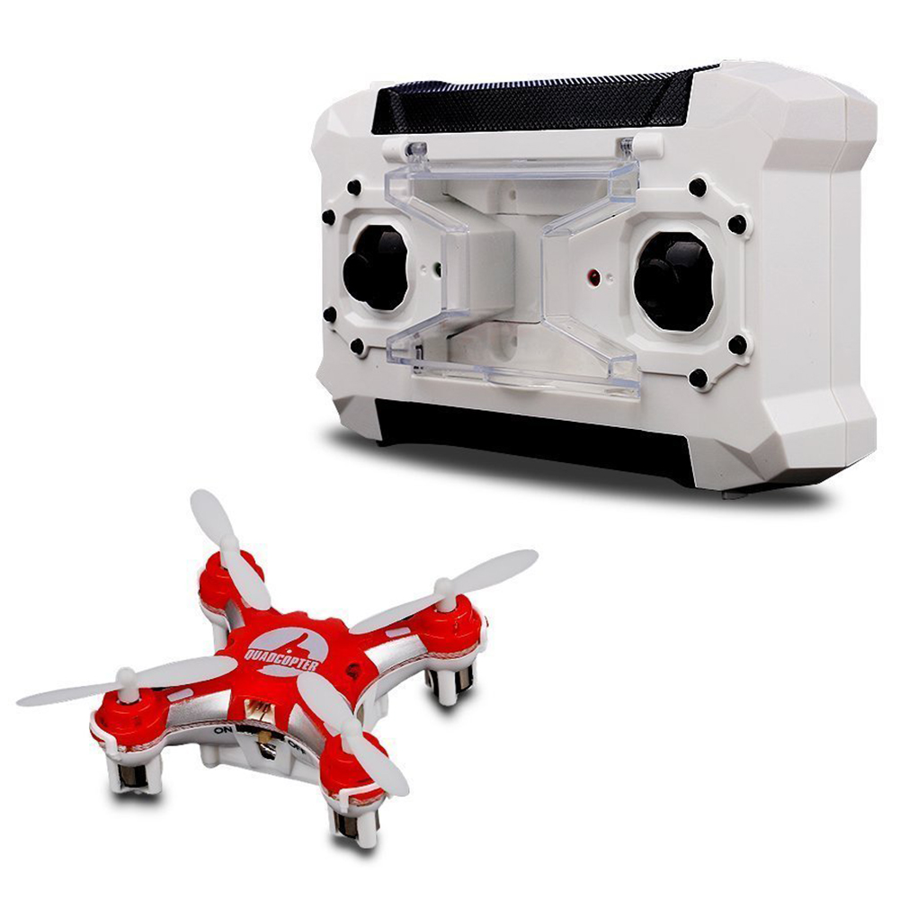 Mini Pocket Drone 4CH 6 Axis Gyro RC Micro Quadcopter with 3D Flip, Headless Mode, One Key Return Nano Copters RTF Mode 2 red