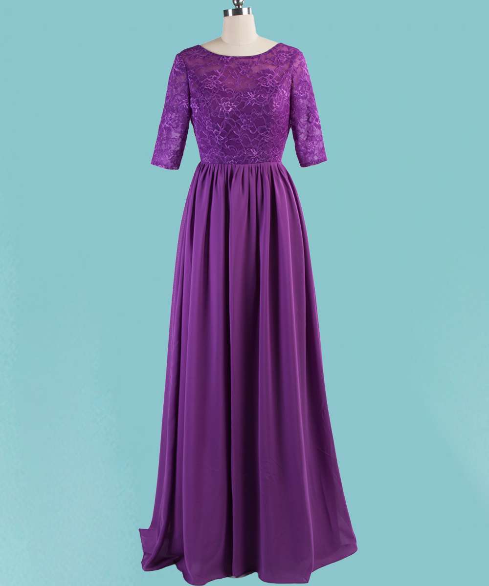 Purple lace dress bridesmaid 7533768 - girlietalk.info