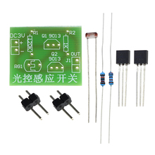DIY Kit Light Control Sensor Switch Suite Photosensitive Induction Switch Kits DIY Electronic Trainning Integrated Circuit Suite(China)