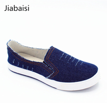 Jiabaisi shoes women lovers comfort jeans shoes soft summers family kids casual loafer shoes leisure canvas sweetheats shoes