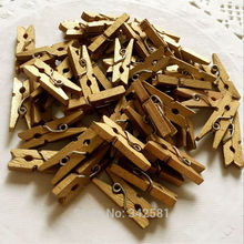 50 Mini {1.0in} Gold Wood Clothes Pegs Scrapbooking Party Photo Prop Merchandising Christmas Festive Vintage Shabby Chic Wedding(China)