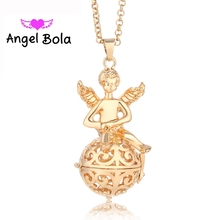 20.5mm 10pcs/Wholesale Angel Ball In Angel Pattern Perfume Cage Harmony Caller Pendants Pregnant Necklace DIY JewelryL022