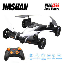 4.5CH 2.4G Drone Remote Control Flying Car 6-Axis Gyro Camera RC Drone Car Air Land Drone Mode Stable 3D Flip Quadrocopter Cars(China)