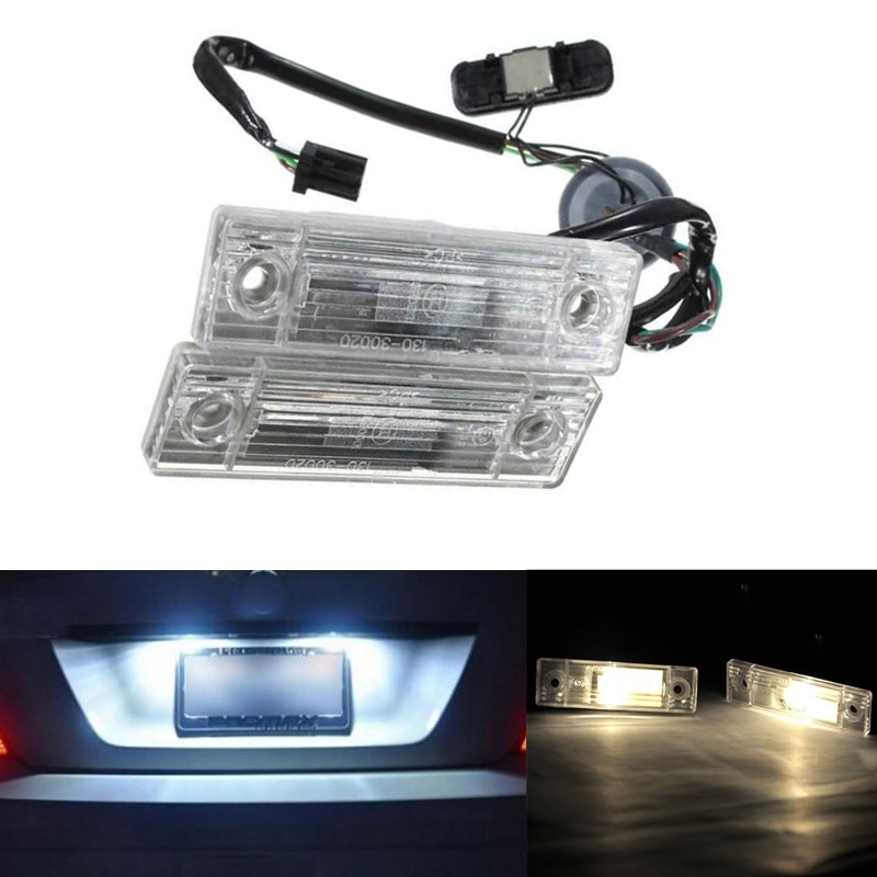 2x Car Auto Rear Trunk Assembly License Plate Lamp Light Bulbs Switch Button Fit For Chevrolet Cruze Warm White DC 12V<br><br>Aliexpress