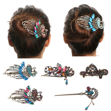 4 Styles  HOT Retro Vintage Women Ladies Girls Crystal Butterfly Flower Hairpins Hair Stick Hair Clip Hair Accessories