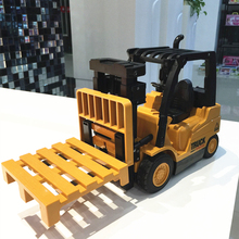 6CH New RC Truck Fork Lift Wireless Remote Control Truck Clasps Car Mechanical Electrical Model Toy Christmas Gift For Kids(China)