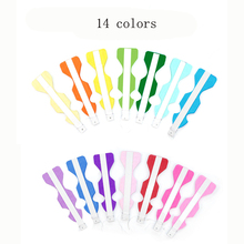 ZLJQ14 Colors  Color Paper Folding Fan Wedding Window Party Home Decoration Paper Fan Flower Wedding Birthday Party Supplies9D
