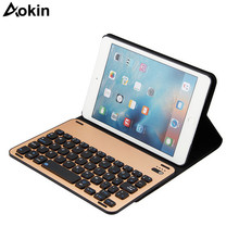 Aokin Keyboard For iPad Mini4 Wireless Rechargeable Keyboard Bluetooth 3.0 For Office Gamer Stand Cover Holder Protective Case(China)