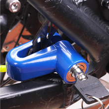 1PCS Bike Accessories MTB Bicycle Lock Anti theft Disk Disc Brake Rotor Lock For Scooter Bikes Motorcycle Safety Red Black Blue