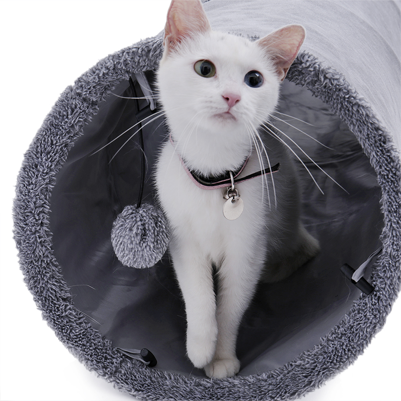 big cat tunnel Big Long Cat Tunnel with Play Ball Suede Material-Free Shipping HTB142dPlLBNTKJjSszcq6zO2VXau