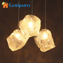 Litake LED Pendant Lamp 1pcs Ice Cube Shape LED Pendant Lamp Ceiling Chandelier for Rock Bar Hotel Lighting 40W(China)