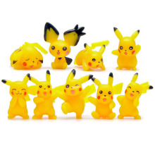 9pcs Pikachu figures set toy for kid 2016 New Japanese pikachu charmande go model toys lot Magic doll party supply decor gift