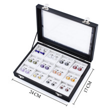 Luxury Cufflinks Jewelry Display Case High Quality Rubber Jewelry Box Display