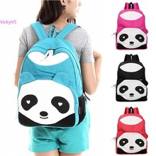 Best Selling!!2014 New Rucksack Kids Girl Boy Student Panda Canvas Double Shoulder Bag Student Cute Schoolbag 25