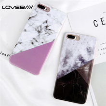 Buy Lovebay Phone Case iPhone 8 7 6 6s Plus Fashion Geometric Splice Pattern Granite Texture Soft TPU Cover Case iPhone 5 5s for $1.49 in AliExpress store