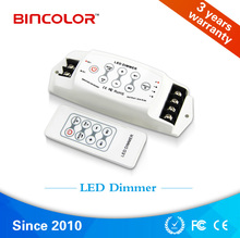 Wireless RF Touch Panel LED Dimmer; DC12V-24V RF Remote LED single color strip pwm dimmer
