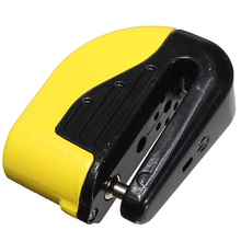 Anti theft Motorcycle Motorbike Bike Security Disc DISK Lock ALARM W/ 2 KEY -Yellow