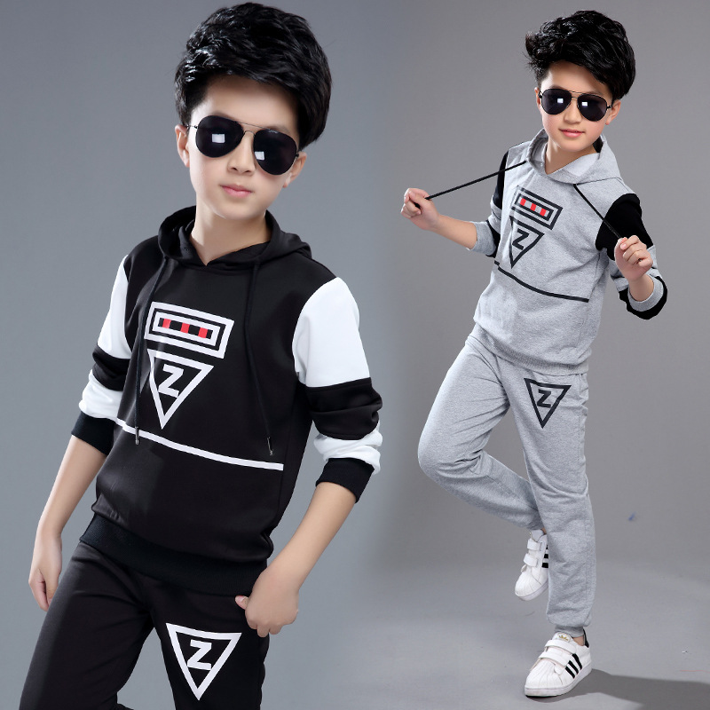 2017 Spring Boys Clothing Sets Fashion Kids Childrens Sports Suits Teenage School Boys Hoodies Pants Suit Sets 6 8 10 12 Years<br><br>Aliexpress