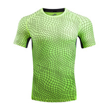 2017 Men Tee Shirt Print O Neck T-Shirt Short Sleeve Polyester Nylon sweat absorption and flash drying Shirt(China)