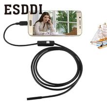 Hot New 1.5M 7MM Android Endoscope Inspection USB Borescope LED Tube Snake Camera Scope Professional endoscope Mini Camcorder(China)