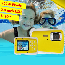 "SDV-5262 8MP  3M Waterproof Digital Camera 1.8"" Screen Yellow 5 million Camera - The Perfect Camera for Kids!"