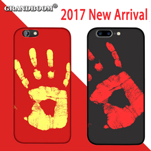 GRANDBOOM 2017 New Temperature Detection Color Change Case Cover Phone for iphone 6 6s 7 plus 5 5s SE PU protection coke 50pcs