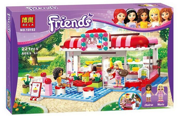 Bela 10162 Friends City Park Cafe Building Block Sets Educational Toys Bricks Compatible with brick block toys kid gift girls<br><br>Aliexpress