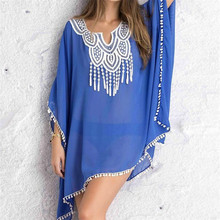 Sexy Beach Cover up Lace Swimwear Ladies Poncho Beach Cover up Saida de Praia Plus Size Swimwear Cover ups New Arrivals(China)