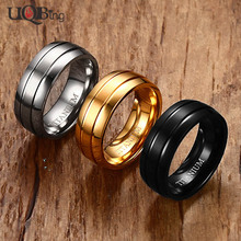 3 Colors 100% Pure Titanium Steel Rings Jewelry 8MM Matte Finished Party Rings For Men Birthday Gifts(China)