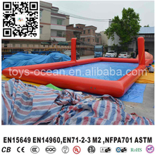 Cheap inflatable water volleyball court, beach inflatable water park game, water sport inflatable aqua volleyball field(China)
