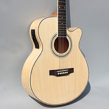 Wood color guitars 40-45 40 inch high quality Electric Acoustic Guitar Rosewood Fingerboard guitarra with guitar strings