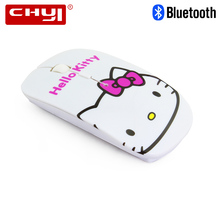 CHYI Cute Hello Kitty Wireless Bluetooth Mouse 1600DPI Optical Computer Mause Ultrathin Laptop PC Mice for Girl's Gift(China)