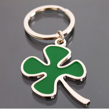 New Design keychain!novelty items fashion trinket Clover key chains ring creative jewelry charms metal bag key holder gift(China)