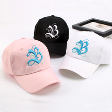 2017 Embroidery Letter B Boys Girls Cap Cotton Black Kids Baseball Caps Good Quality Children Snapback Hats White Hip Hop Hat