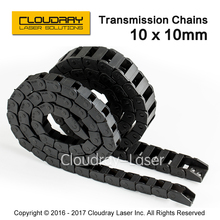 Transmission Chains 10 x 10mm 1M Non Snap-Open Plastic Towline Cable Drag Chain for CO2 Laser Engraving Cutting Machine