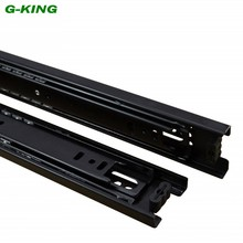 Drawer slide three ball guide rail track width of 45mm furniture mechanical cabinet rail mute(China)