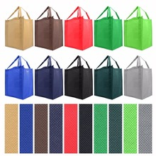 Customize Promotional Reusable Reinforced Handle Grocery Tote Bag(China)