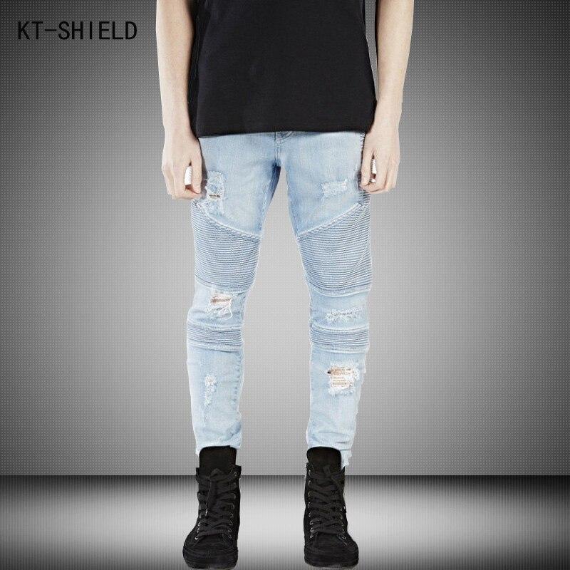Represent Clothing Designer Pants Blue/Black Destroyed Mens Slim Denim Overalls Skinny Biker Jeans Men Ripped Jeans Homme 28-38Одежда и ак�е��уары<br><br><br>Aliexpress