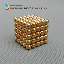 216pcs Diameter 4mm Golden Magic Bucky balls Neodymium Toy Cubes Magic Puzzles Toy Sphere Magnets Magnetic Bucky Balls(China)