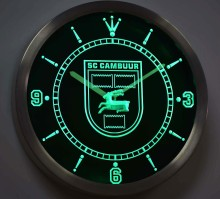 nc1019 SC Cambuur Leeuwarden Eredivisie Football Neon Sign LED Wall Clock(China)