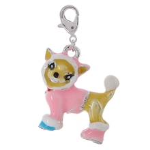 C902-1 hot sale fashion zinc alloy silver DIY  Pink dog clothes  thomas charms  for 20pcs/lot  Matching necklace and bracelet