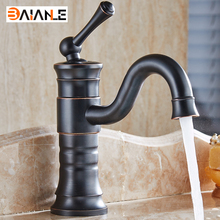 Basin Faucet Contemporary Single Handle Bathroom Sink Faucet Long Curved Spout Faucets for Vessel Sinks Oil Rubbed Bronze(China)