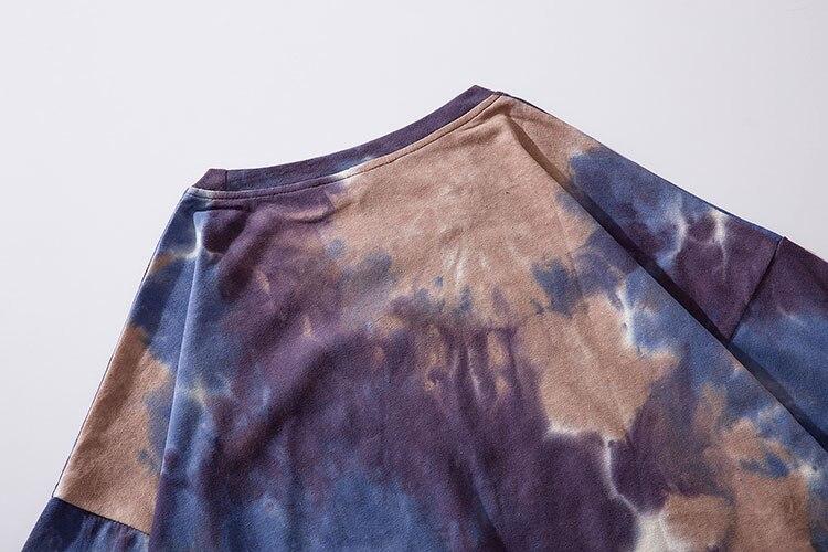Graffiti Smile Print Tie Dye Tshirts 7