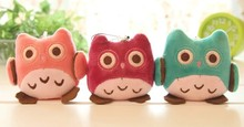10PCS SUPER Kawaii OWL DOLL Plush Stuffed TOY ; BIG Phone Strap Pendant Charm & BAG Key Chain TOY DOLL ; Weddng Bouquet TOY DOLL
