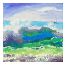 Ocean waves oil painting Impression Seascape Oil painting  seaside on canvas hight Quality Hand-painted Painting 4