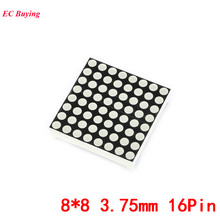 2Pcs 8x8 3.75mm Dot Matrix 8*8 16Pin Digital Tube Red Common Anode LED Display DIY Electronic Module 1558BS For Arduino(China)
