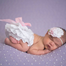 Solid Color Satin Baby Bloomer Newborn Photo Prop Girls Infant Ruffle Diaper Cover for Summer Baby Shorts KS003(China)
